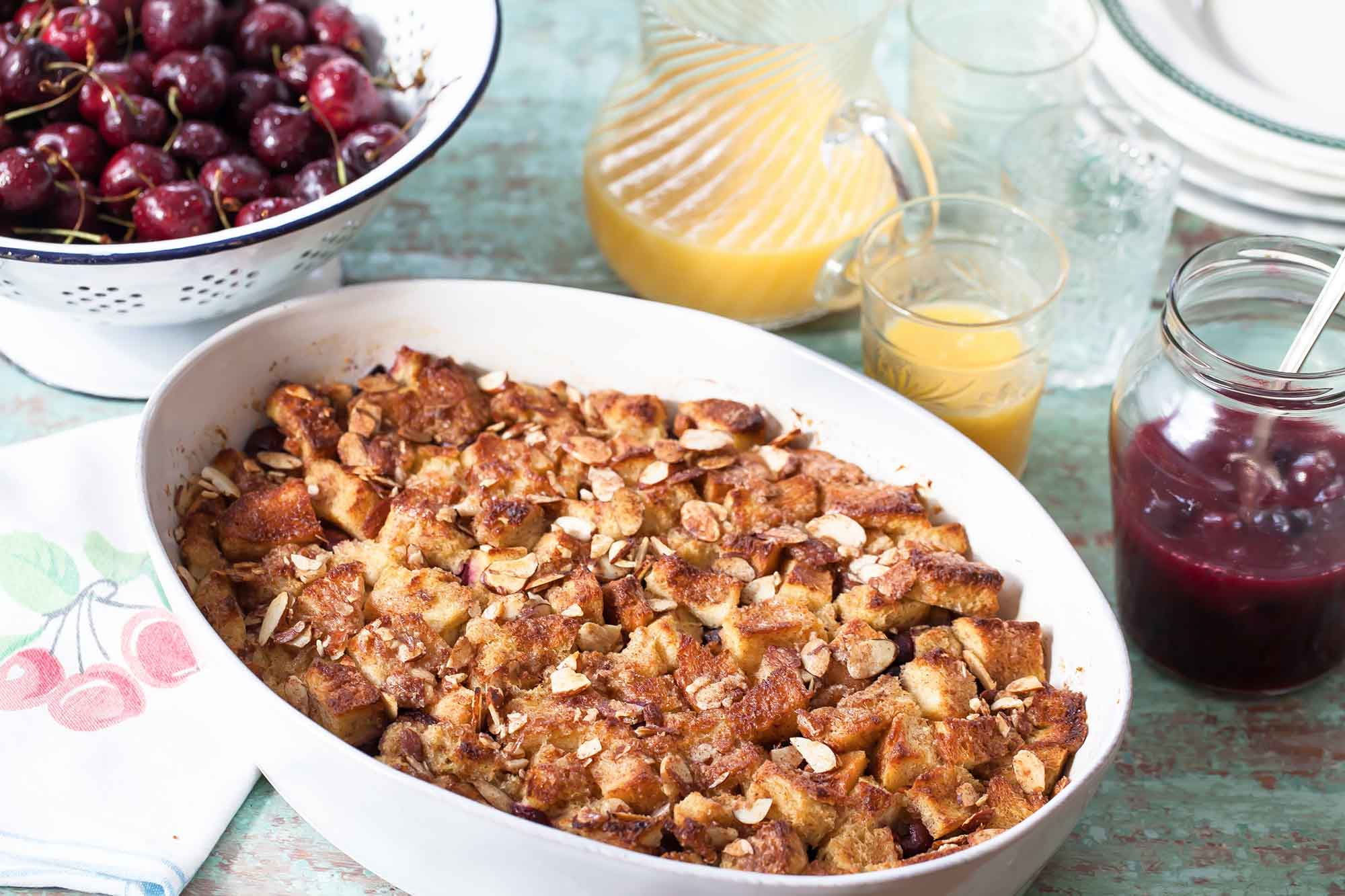 Baked Cherry French Toast Casserole