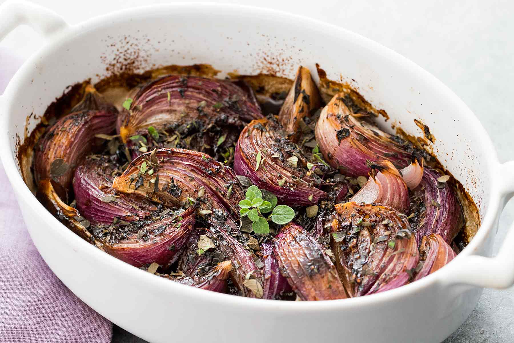 Balsamic-Glazed Red Onions