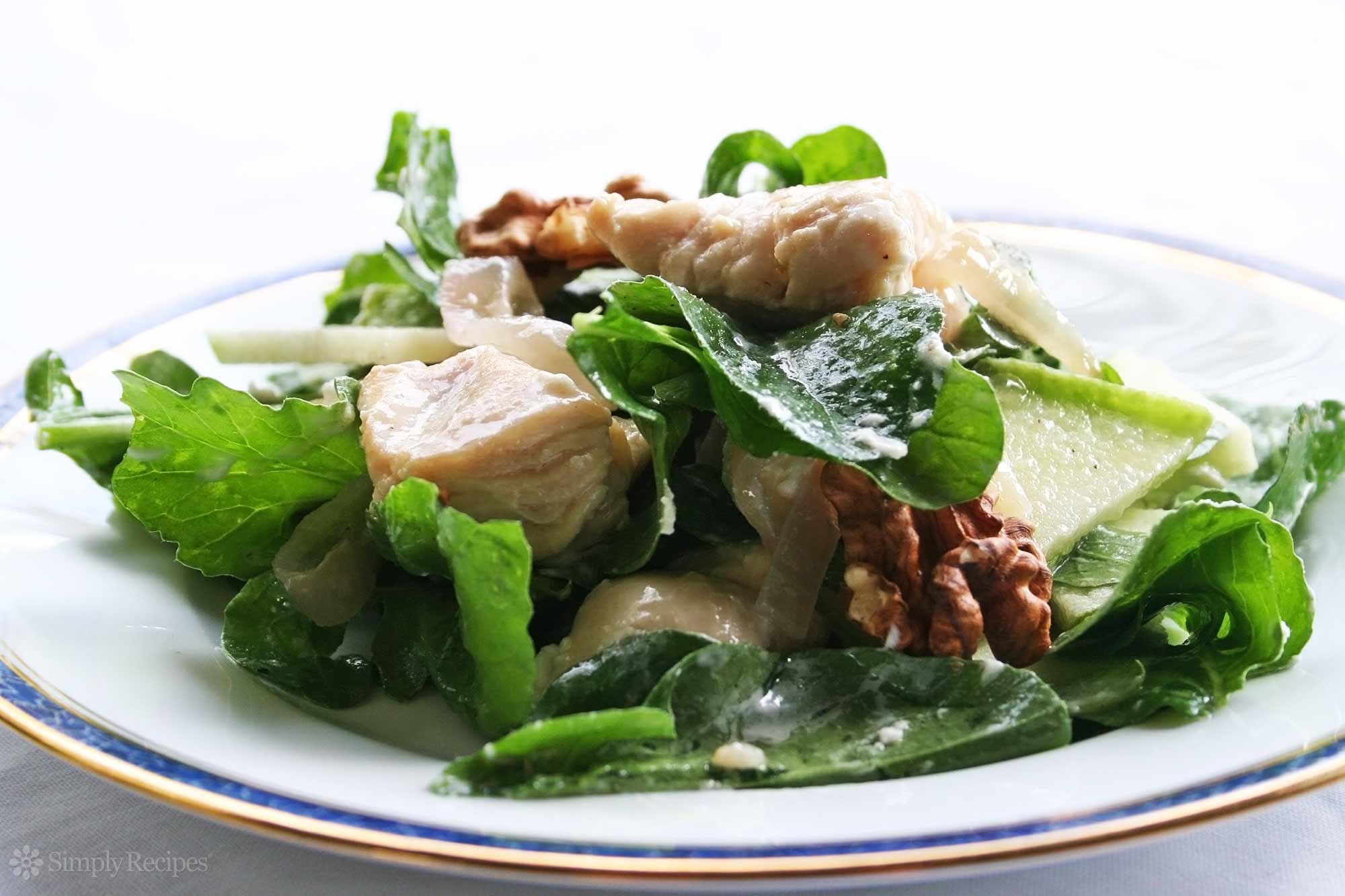 Chicken Apple Arugula Goat Cheese Salad