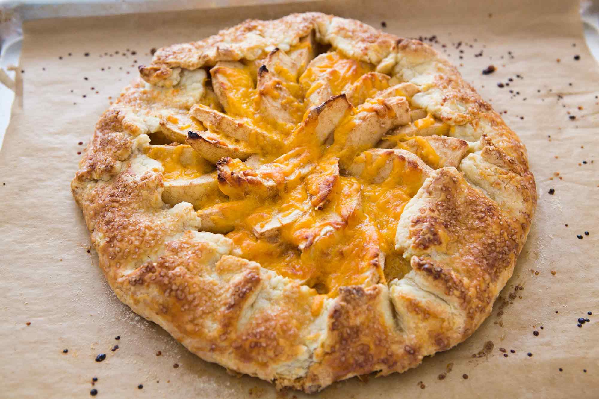 New England Apple Cheddar Galette