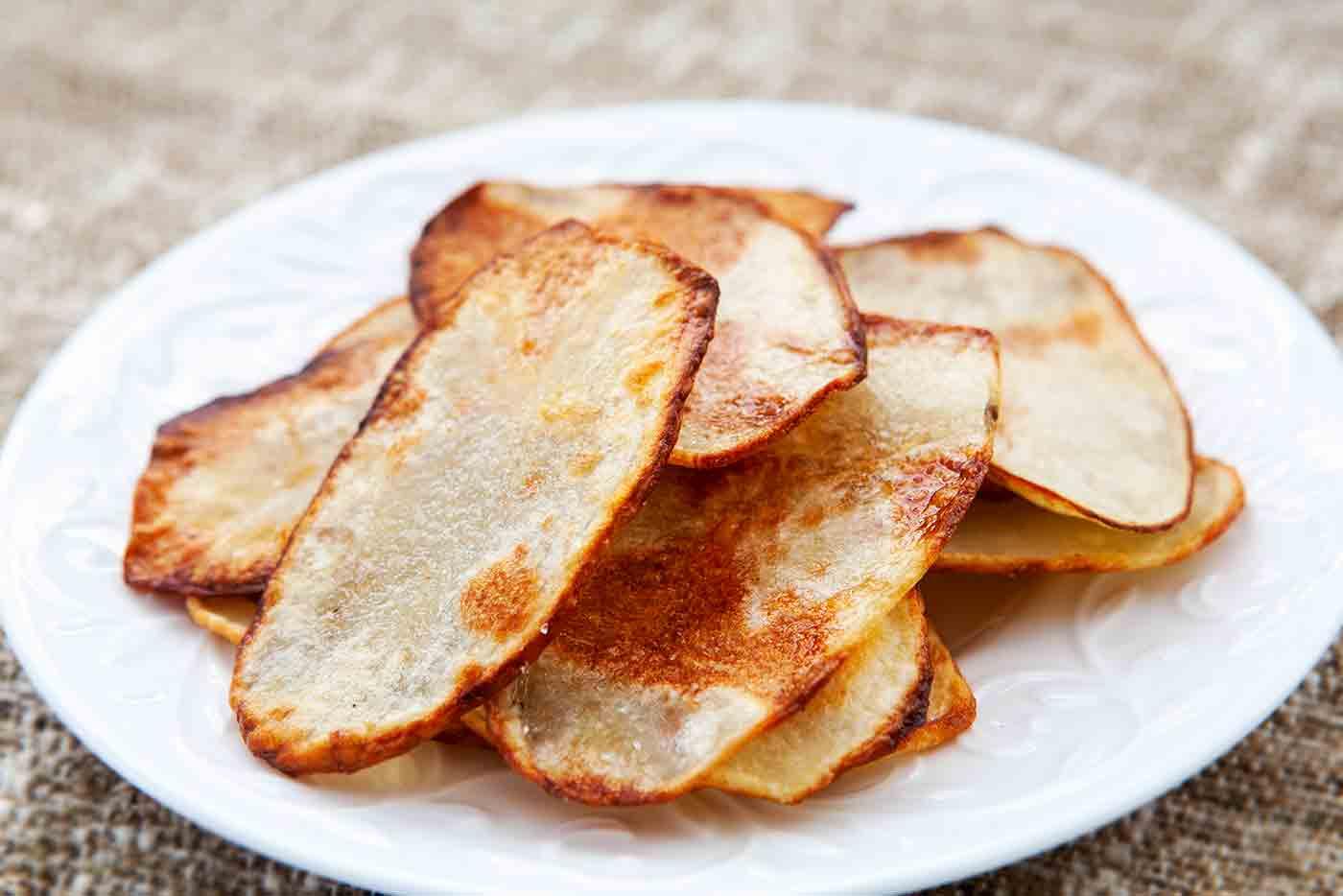 Oven-fried Potato Chips