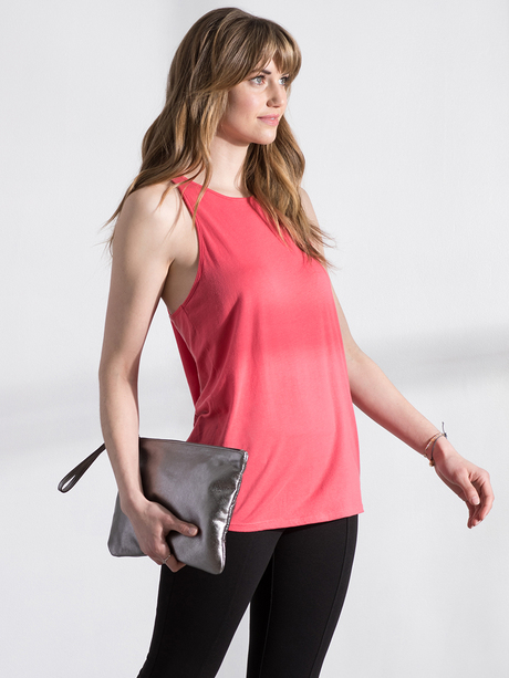 Chase tank pink ruby front