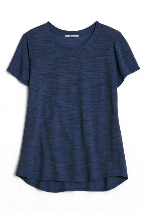 Bella tee navy laydown