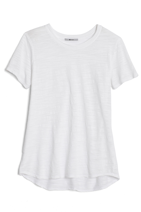 Bella tee white laydown