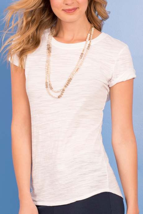 Bella tee white front