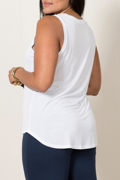 Hazel tank white back