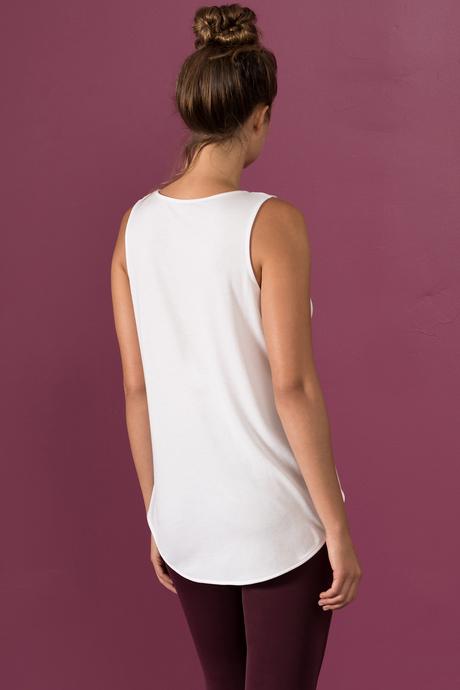 Alina tank white back