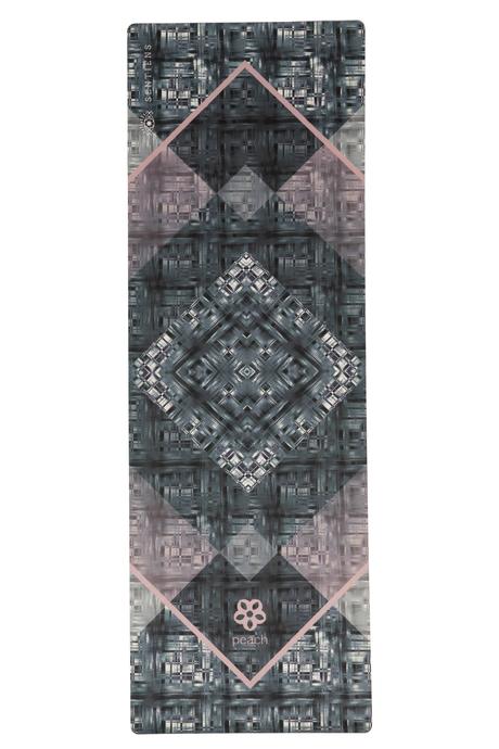 Sentiens yoga peach print mat laydown
