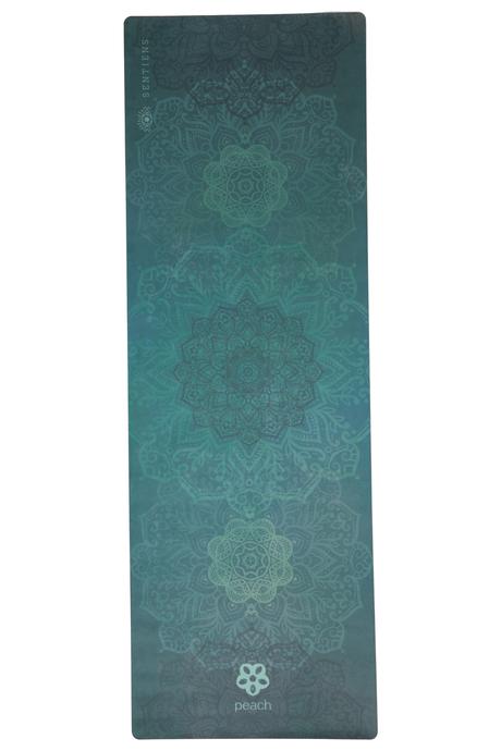 Sentiens yoga green mandala mat laydown