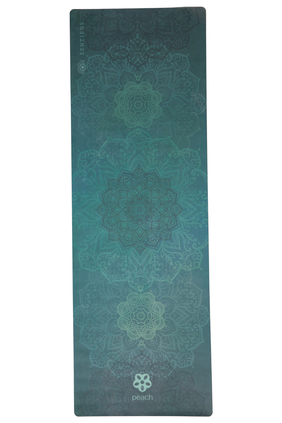 green mandala yoga mat