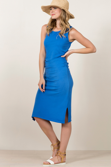Haley dress provenceblue front