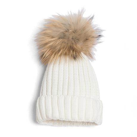 Ivory pom hat