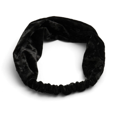 Crushed velvet headband black 1200x1200 pinup