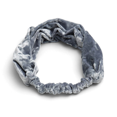 Crushed velvet headband silver 1200x1200 pinup