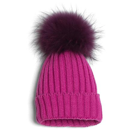 Amethyst pom hat