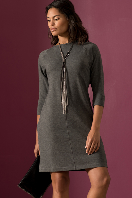 Sylvie dress charcoal front