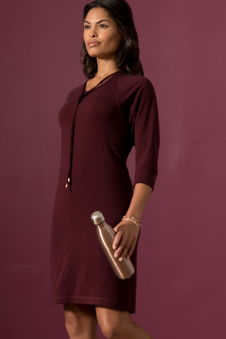 Sylvie dress wine front