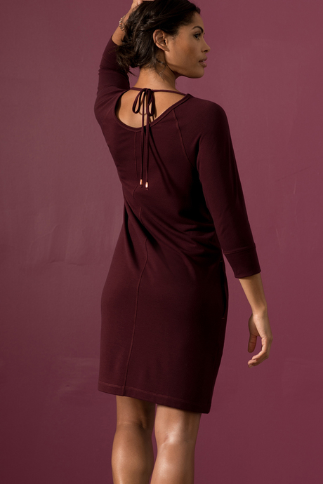 Sylvie dress wine back