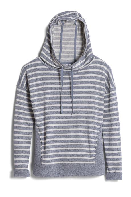 Savona hoodie chambray stripe pinup