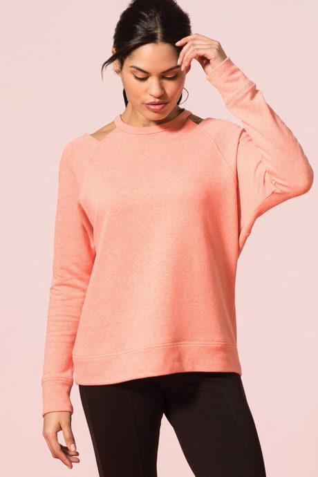 Newport sweatshirt coral1