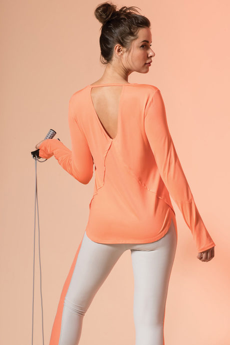 Savasana top coral1