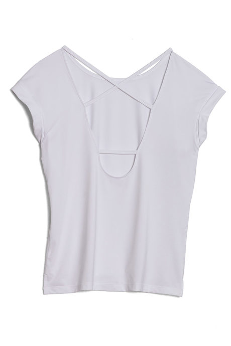 Aura tee white pinup back