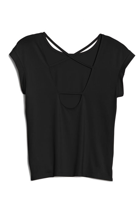 Aura tee black pinup back