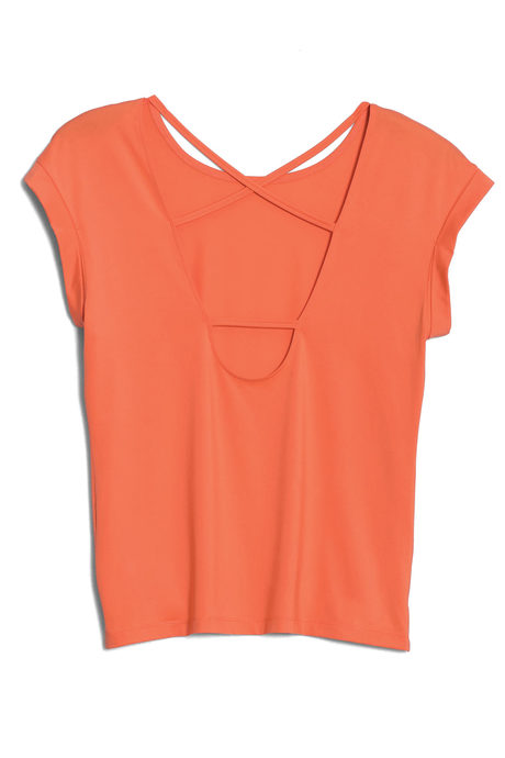 Aura tee coral pinup back