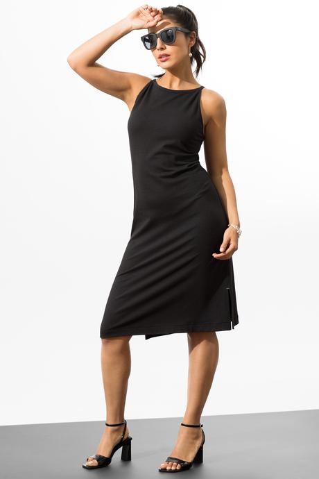 Camila dress black front