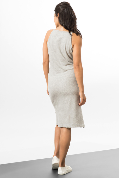 Camila dress heather gray back