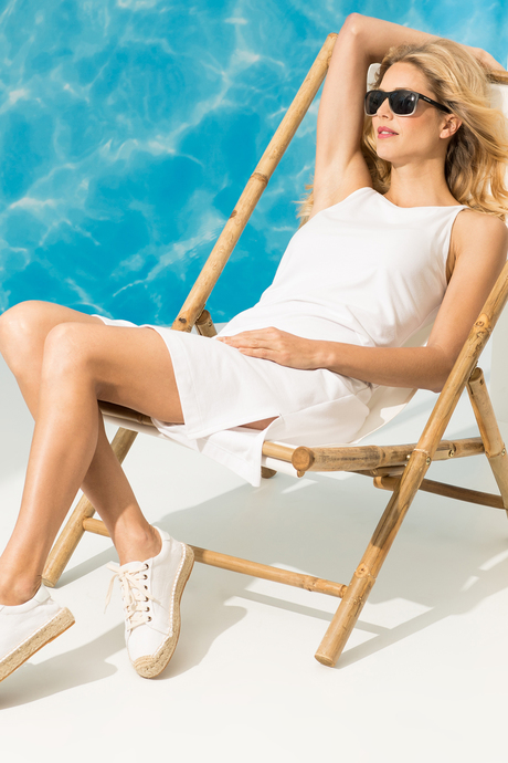 Camila dress white side