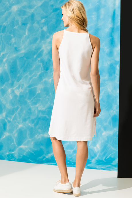 Camila dress white back