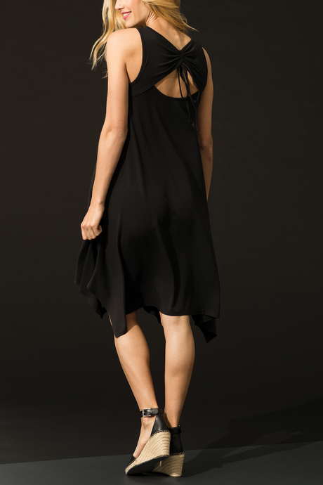 Isabela dress black back