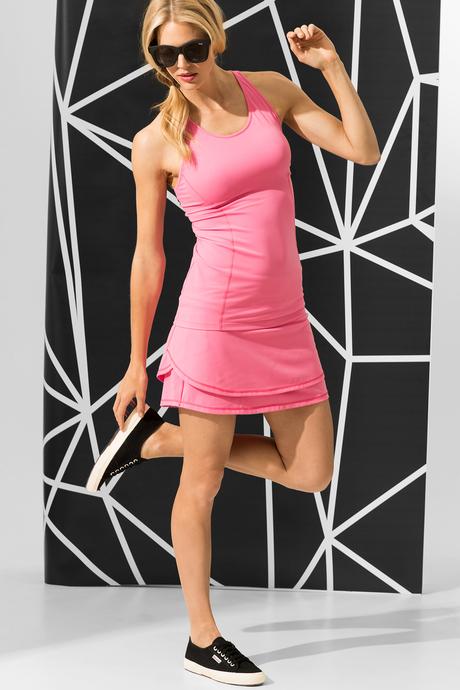 Ceci skort samba pink front
