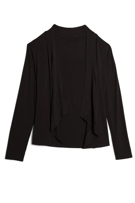Flyaway crop cardigan black pinup