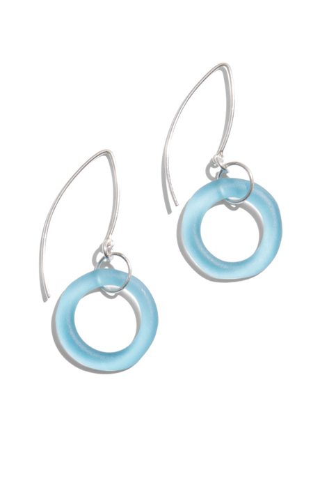 Seaglass earrings aqua pinup