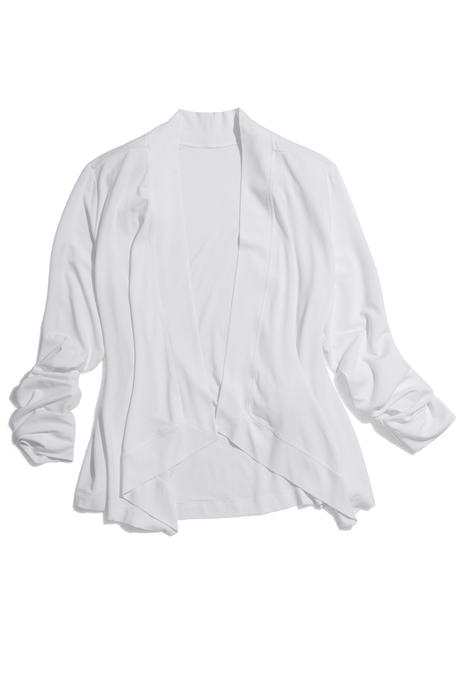 Flyaway crop cardigan white pinup