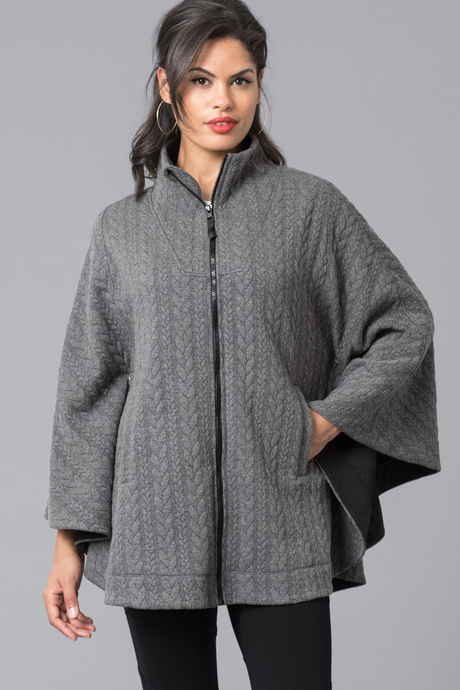 Duchess cape files charcoal front1