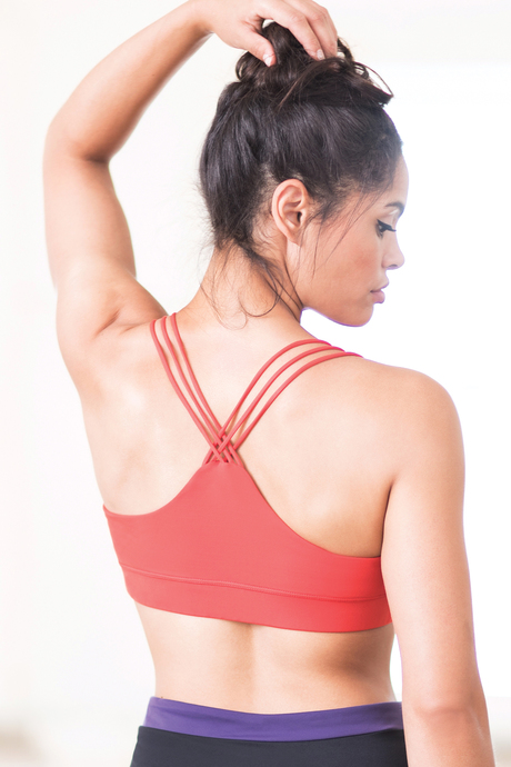 Vista yoga bra kensingtonred back2