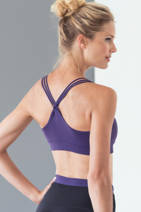 Vista yoga bra royalpurple back2