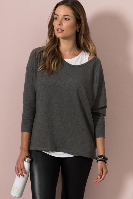 Natalia tunic gray front