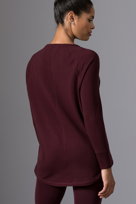 Natalia tunic wine back