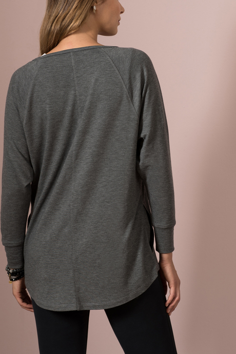 Natalia tunic gray back