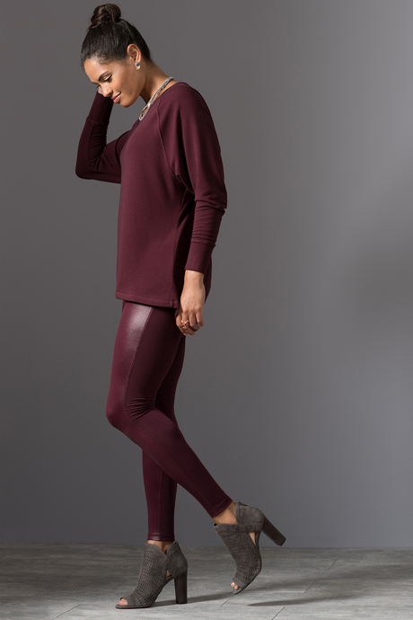 Nina legging wine front full 4