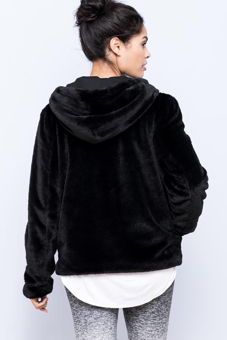 Polar hoodie black back