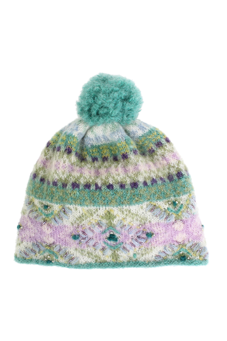 Cozy pom hat green pinup