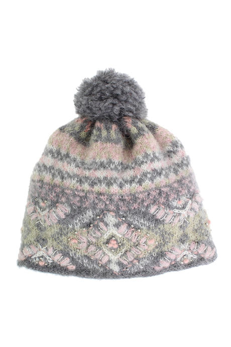Cozy pom hat grey pinup