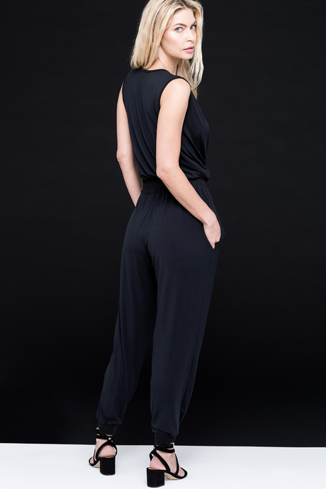 Jumpsuit black side