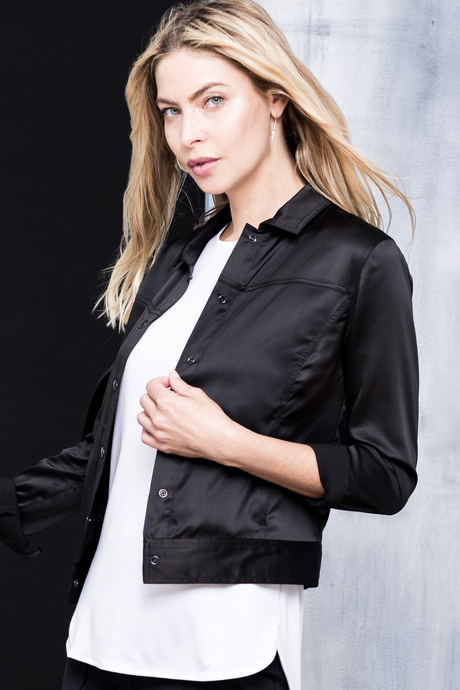Alva jacket black side