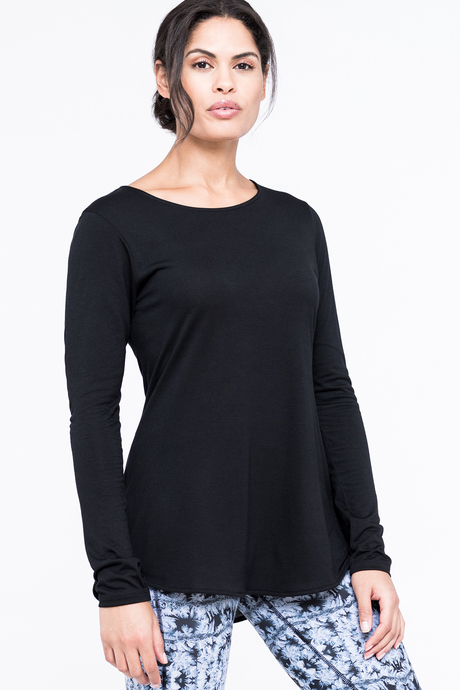Abbey top black front